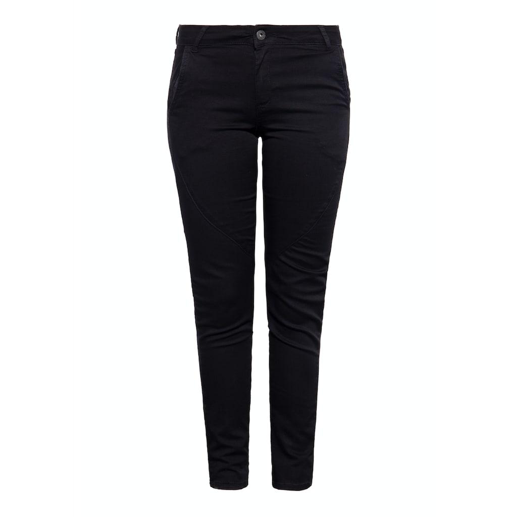 Way of Glory Slim-fit-Jeans, mit diagonalen Teilungsnähten am Bein