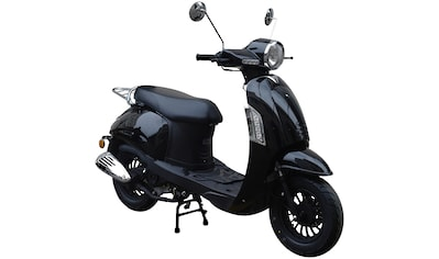 GT UNION Motorroller »Massimo«, 50 ccm, 45 km/h, Euro 4, glanzschwarz kaufen