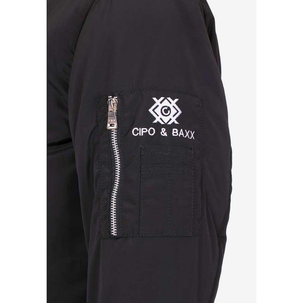 Cipo & Baxx Bomberjacke, mit angesagten Patches