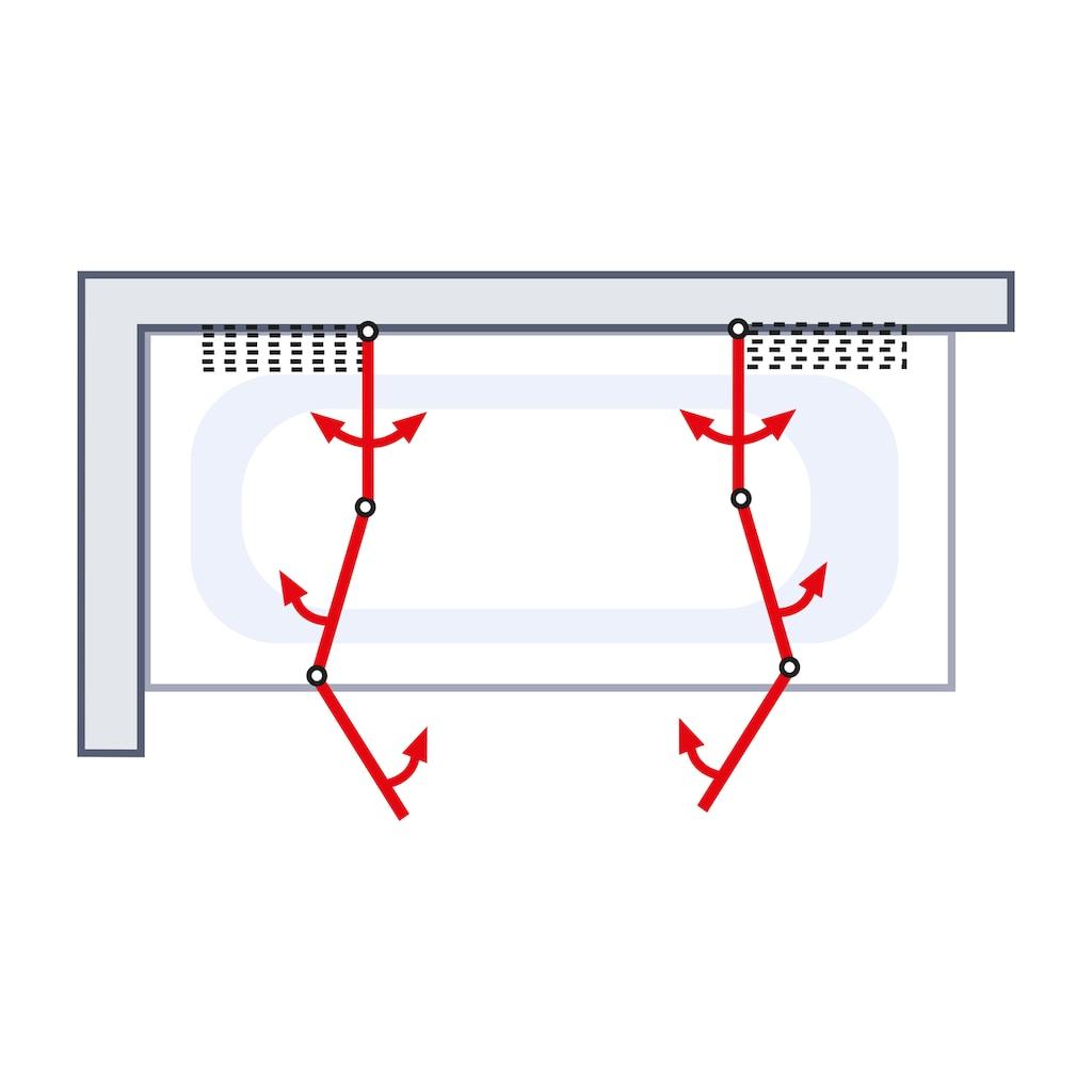 Schulte Badewannenfaltwand, 2 x gerahmt, BxH: je 104 x 140 cm