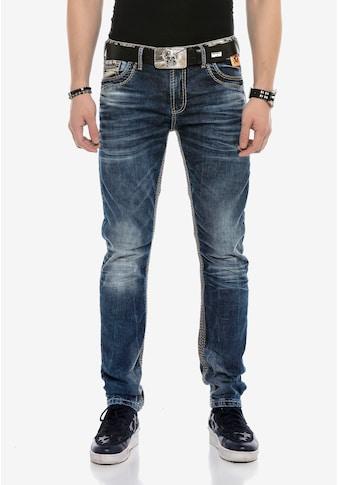 Cipo & Baxx Bequeme Jeans, mit breiten Ziernähten kaufen
