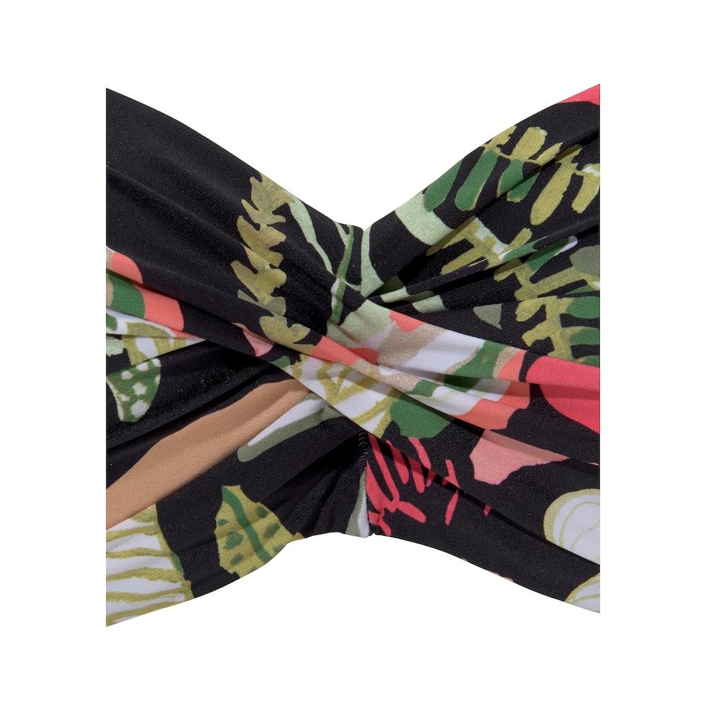 s.Oliver Bandeau-Bikini-Top »Herbst«, mit floralem Design