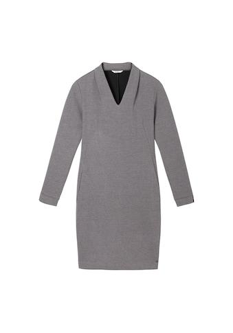 Sandwich Jacquard - Kleid mit hohem V - Ausschnitt kaufen