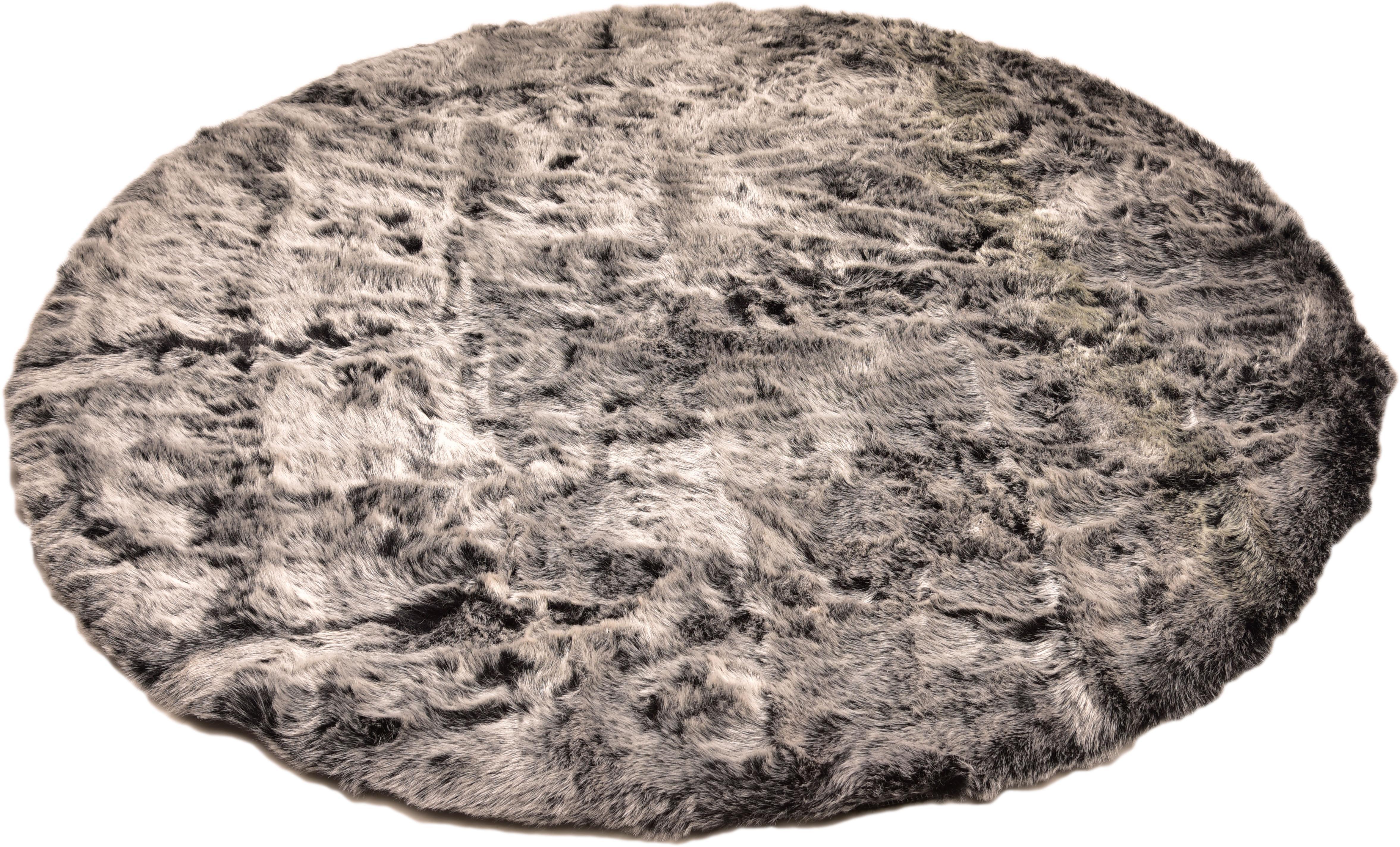 Hochflor-Teppich Velvet Böing Carpet rund Höhe 50 mm maschinell getuftet
