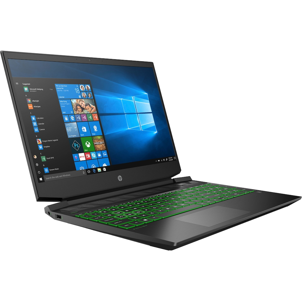 """HP Gaming-Notebook »Pavilion - 15-ec1239ng 15,6""""«, (39,6 cm/15,6 """" AMD Ryzen 7 GeForce GTX 1650 Ti\r\n 1000 GB SSD), Kostenloses Upgrade auf Windows 11, sobald verfügbar"""
