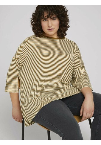 TOM TAILOR MY TRUE ME Langarmshirt »Curvy - Lockeres Shirt mit Bio-Baumwolle und... kaufen
