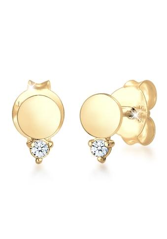 Diamore Paar Ohrstecker »Ohrstecker Kreis Diamant (0.03 ct.) 585er Gelbgold« kaufen