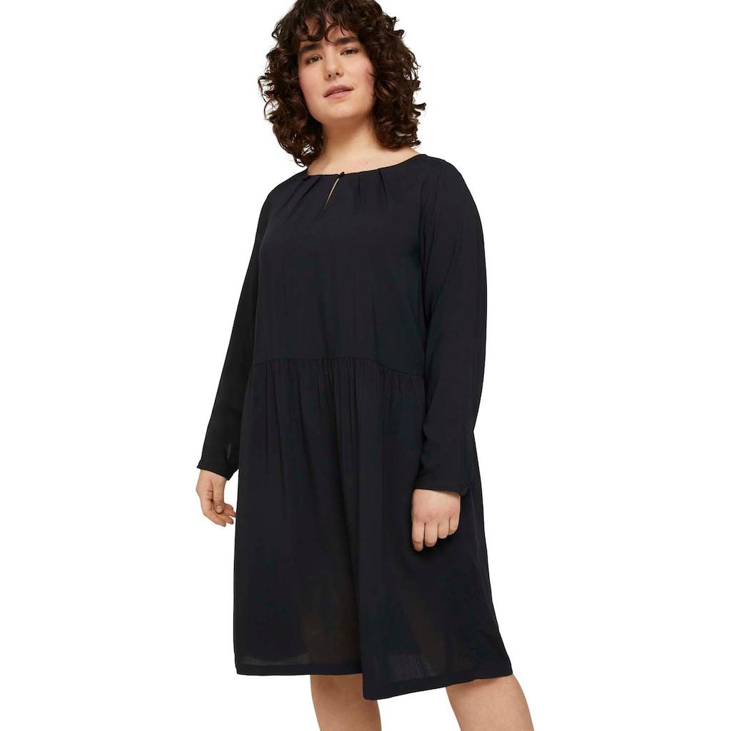 TOM TAILOR MY TRUE ME Blusenkleid, im verspielten Muster-Look oder Uni-Farben