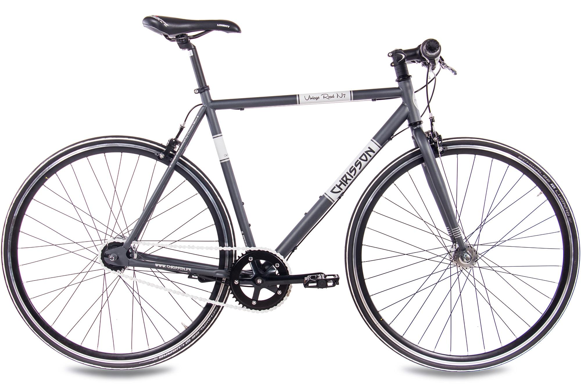 Chrisson Urbanbike Vintage Road N7, 7 Gang, Shimano, Nexus SG-7R42 Schaltwerk, Nabenschaltung, (1 tlg.) grau Crossräder Fahrräder Zubehör Fahrrad