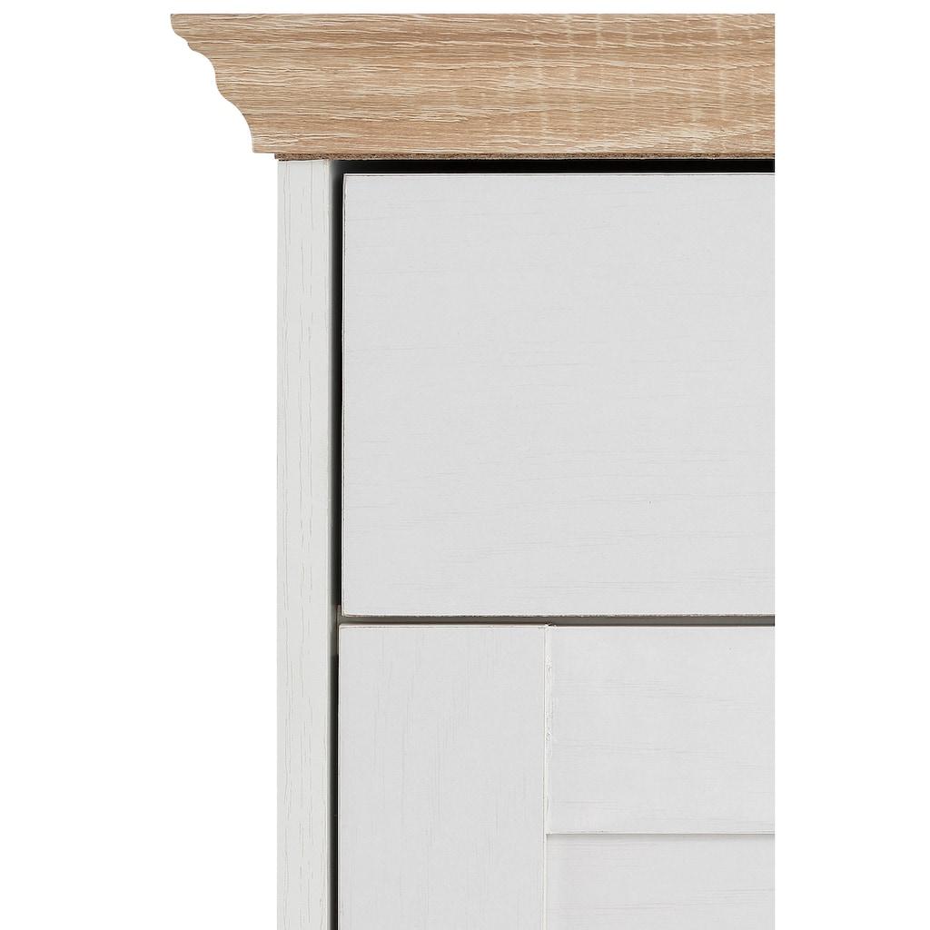 Home affaire Schuhkommode »Binz«, mit schönen Metallgriffen und vielen Stauraummöglichkeiten, Höhe 105 cm