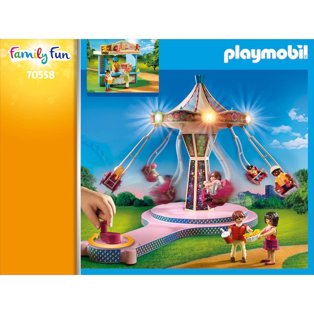 Playmobil® Konstruktions-Spielset »Großer Vergnügungspark (70558), Family Fun«, (130 St.), mit Lichteffekten
