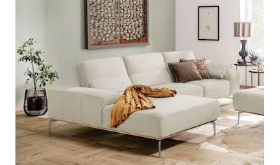 W.SCHILLIG Ecksofa »run«, mit elegantem Holzsockel, Füße in Chrom glänzend, Breite 319 cm kaufen