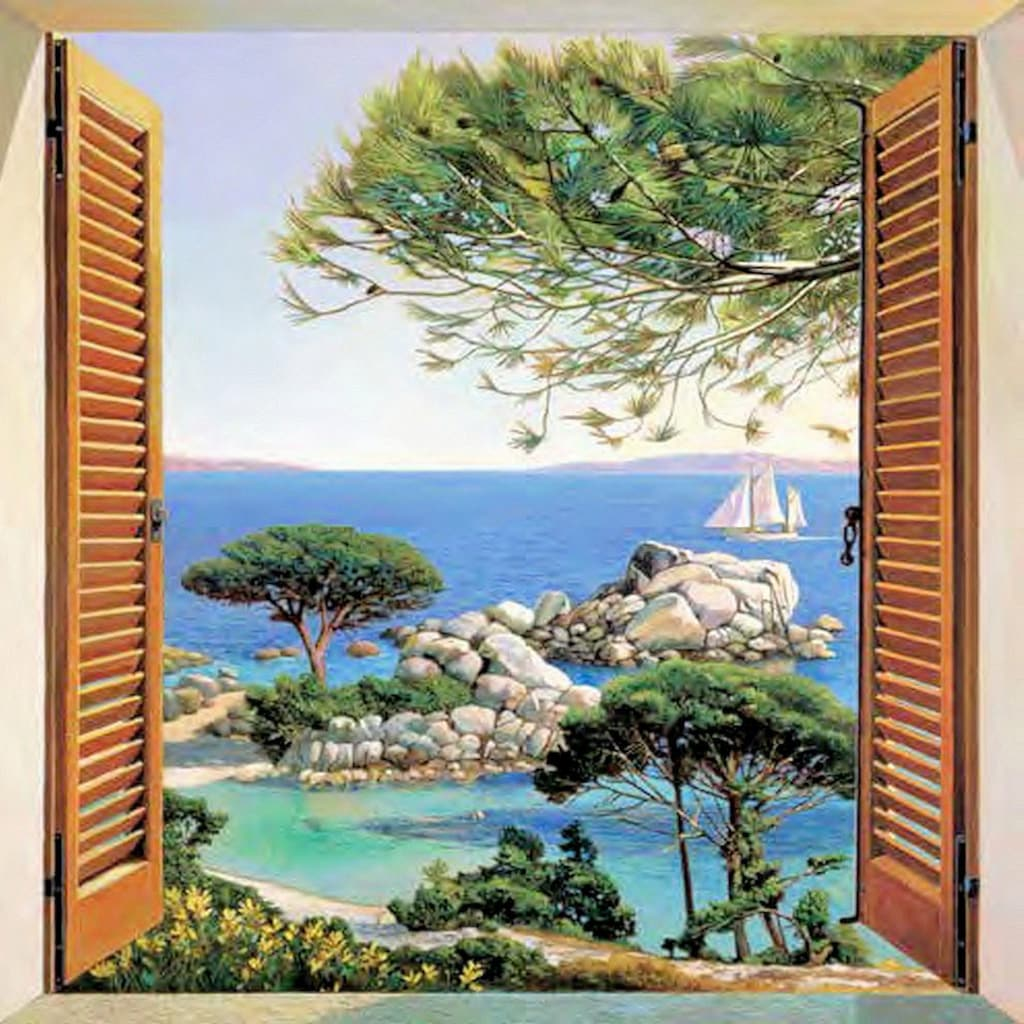 Home affaire Deco-Panel »A. D. Missier - Finestra sul Mediterraneo«
