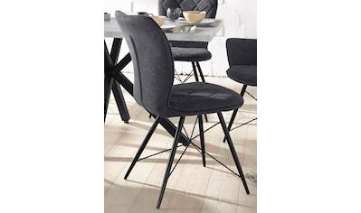 Esszimmerstuhl »Viola«, (2 Stück), Bezug in Webstoff, schwarzes Metallgestell kaufen