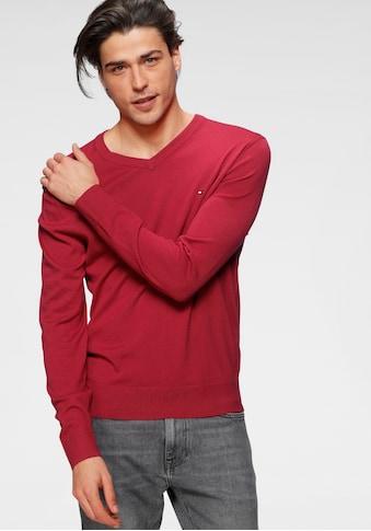 TOMMY HILFIGER V-Ausschnitt-Pullover »ORGANIC COTTON SILK V NECK« kaufen
