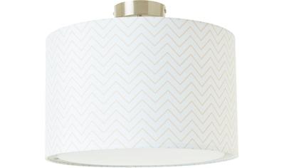 Lüttenhütt Deckenleuchte »Tacken«, E27, Deckenlampe mit Zackenmuster - Stoffschirm Ø... kaufen