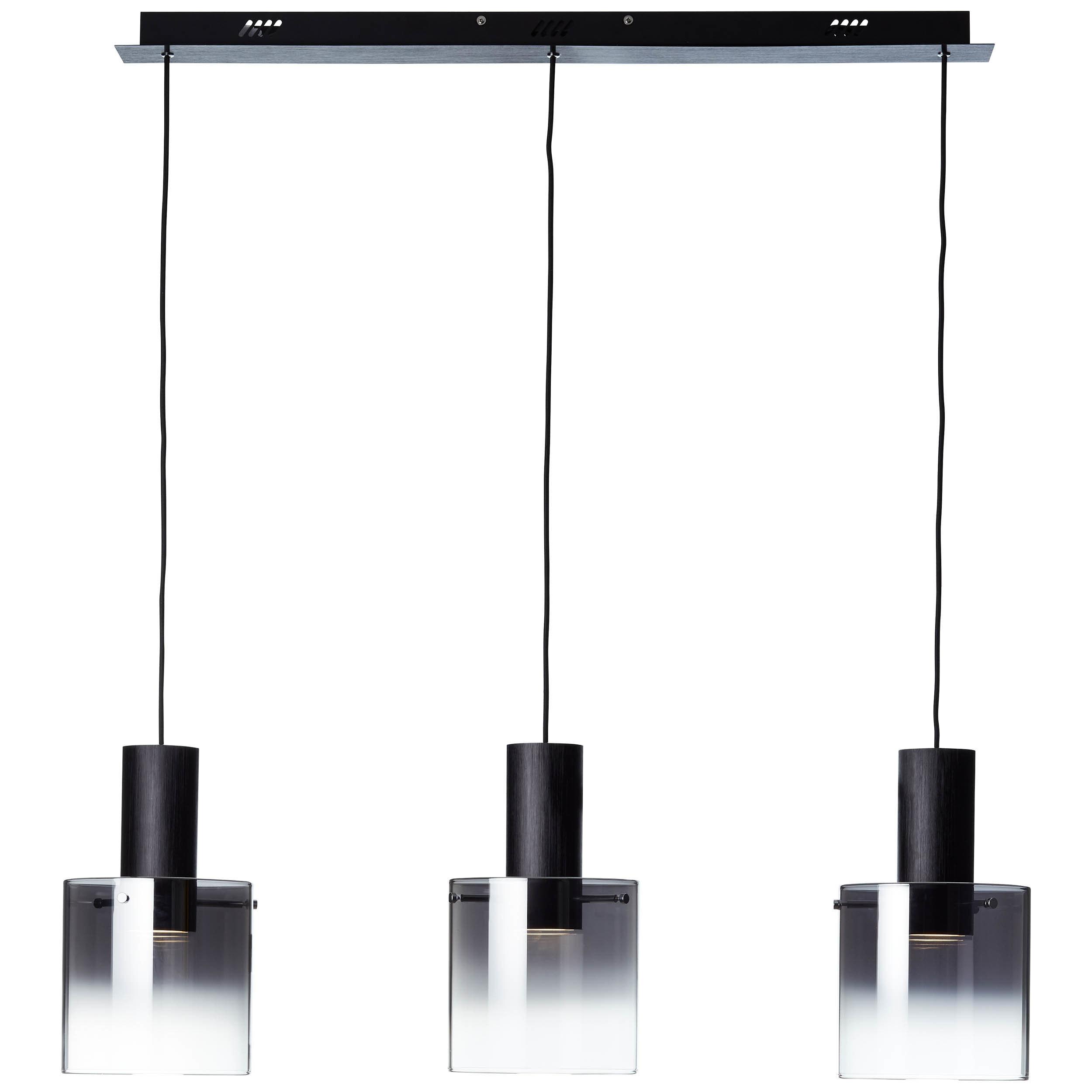 Brilliant Leuchten Beth LED Pendelleuchte 3flg schwarz/rauchglas