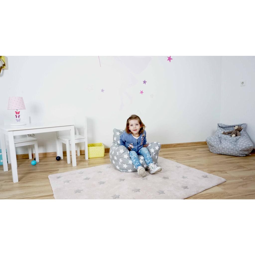 Knorrtoys® Sitzsack »Grey White Stars«, für Kinder; Made in Europe