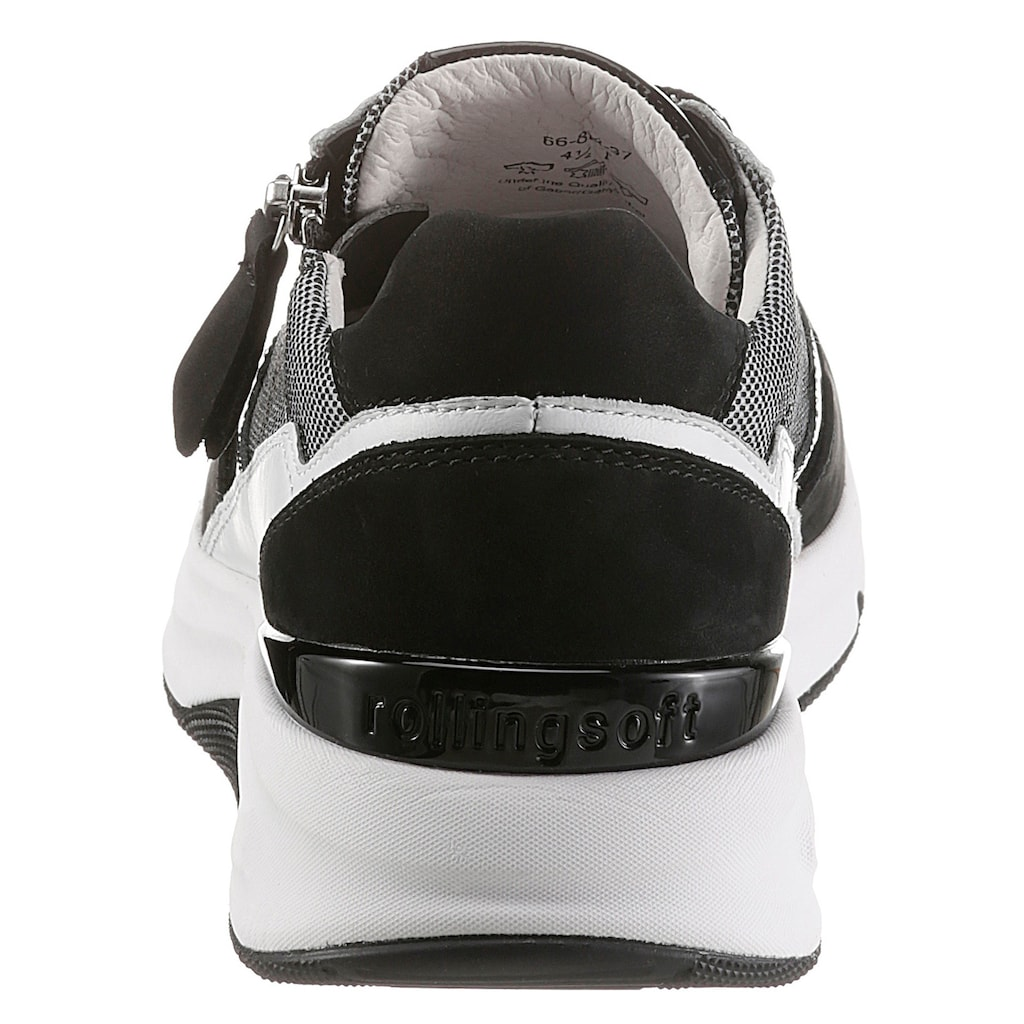Gabor Rollingsoft Keilsneaker, im sportivem Materialmix