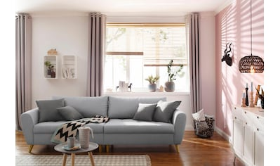 Home affaire Big-Sofa »Penelope«, feine Steppung, lose Kissen, skandinavisches Design kaufen