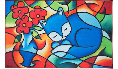LUXOR living Kinderteppich »Bluecat«, rechteckig, 10 mm Höhe, besonders weich durch... kaufen
