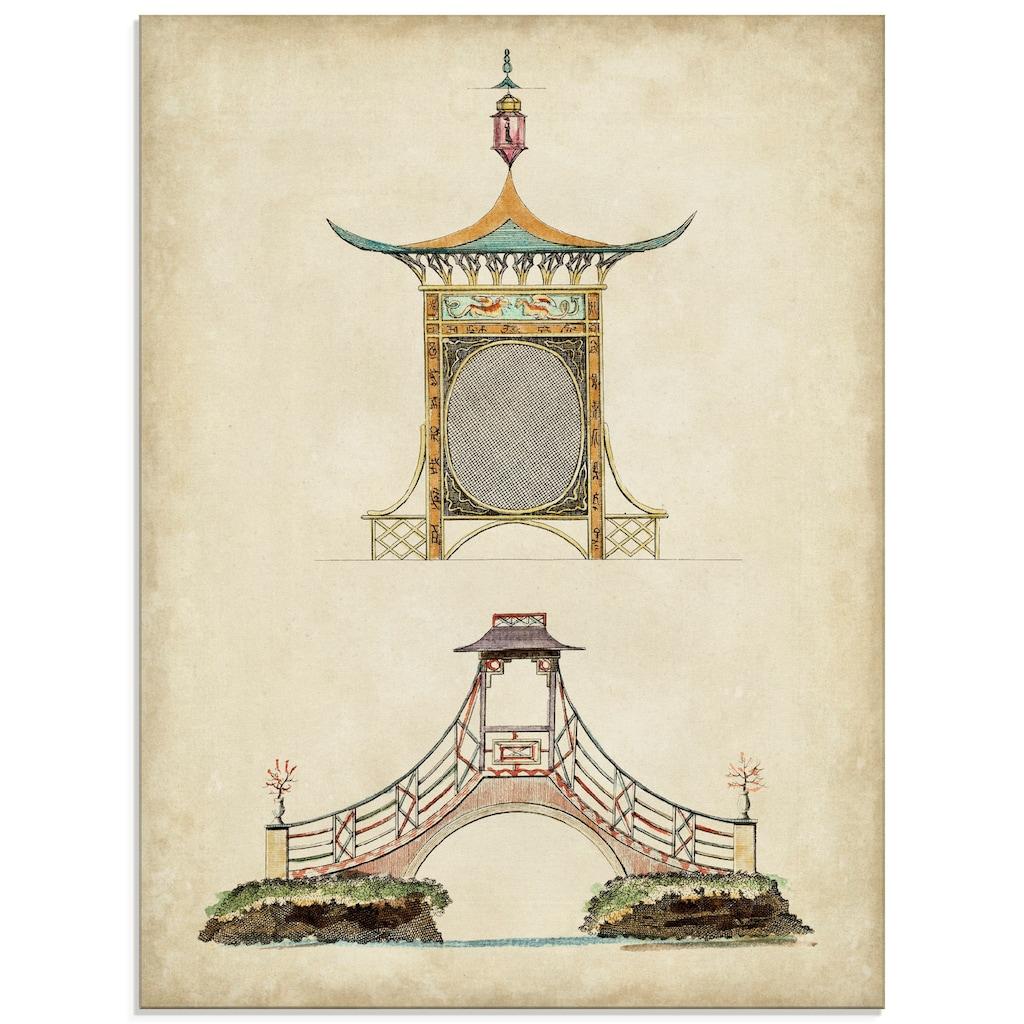 Artland Glasbild »Gartentore III«, Architektonische Elemente, (1 St.)