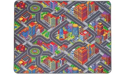 Primaflor-Ideen in Textil Kinderteppich »BIG CITY«, rechteckig, 5 mm Höhe, Straßen-Spielteppich, Straßenbreite ca. 9 cm kaufen