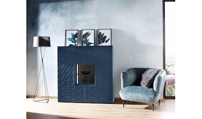 Villeroy & Boch Highboard »AMARA CARRÉ«, mit Stellfuß, 2 offene Fächer, Keramik-Rückwand in Basalto, wahlweise mit Beleuchtung, Breite 125 cm kaufen