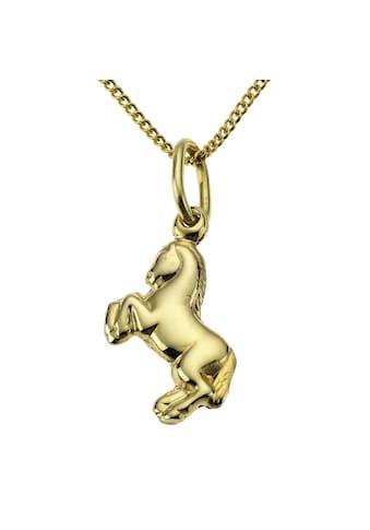 Zeeme Anhänger mit Kette »333/ -  Gelbgold Pferd« kaufen