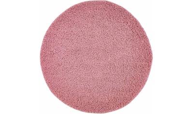 Carpet City Hochflor-Teppich »Pastell Shaggy300«, rund, 30 mm Höhe, Wohnzimmer kaufen