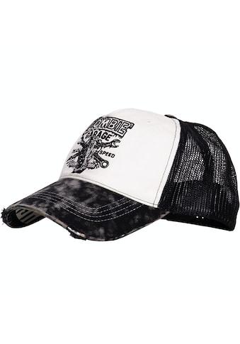 KingKerosin Trucker Cap »Zombie Garage«, im Used-Look und Print auf der Schirmunterseite kaufen