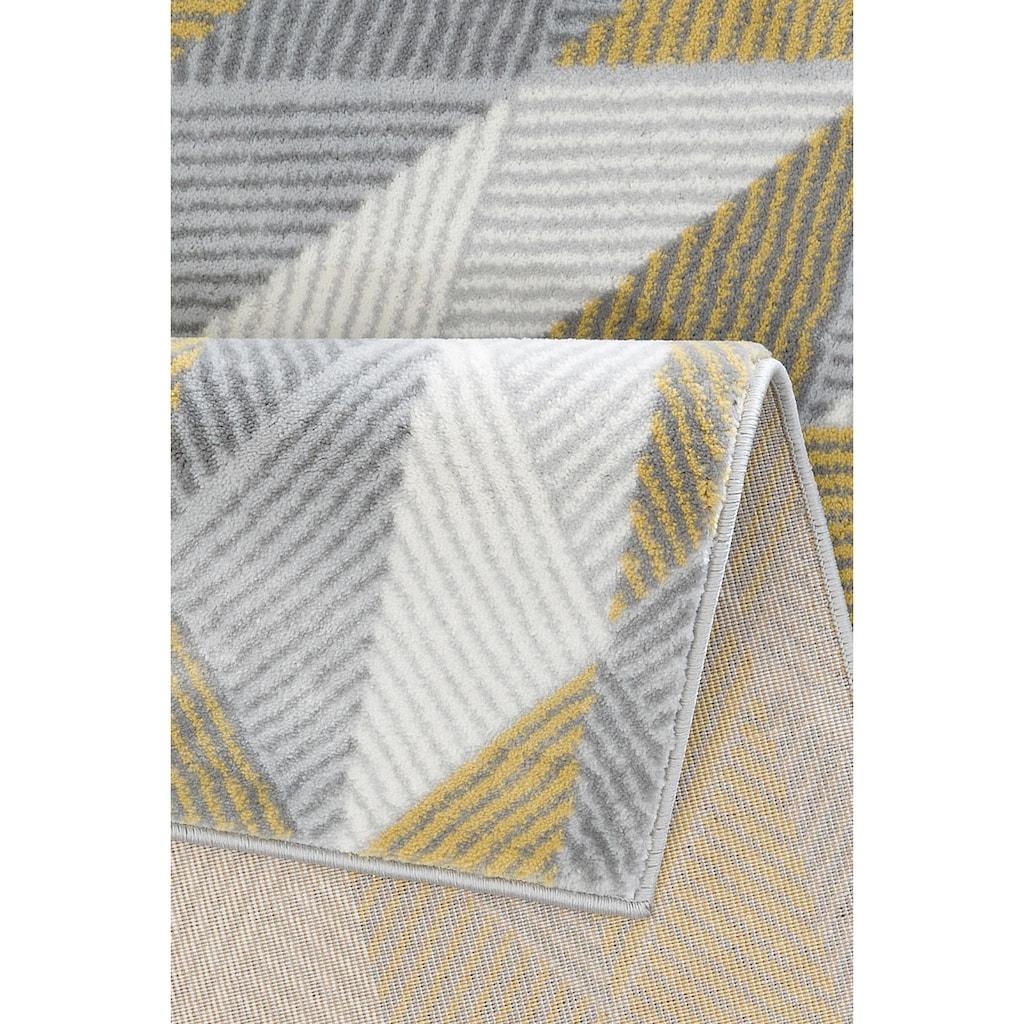 andas Teppich »Germer«, rechteckig, 11 mm Höhe, modernes Design, Wohnzimmer