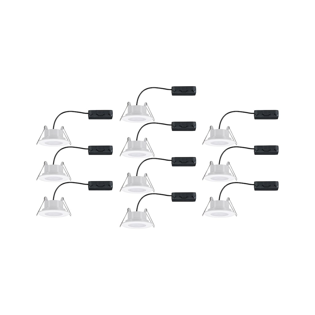 Paulmann LED Einbaustrahler »schwenkbar Weiß matt Calla rund 10x6W«, 10 St., Neutralweiß
