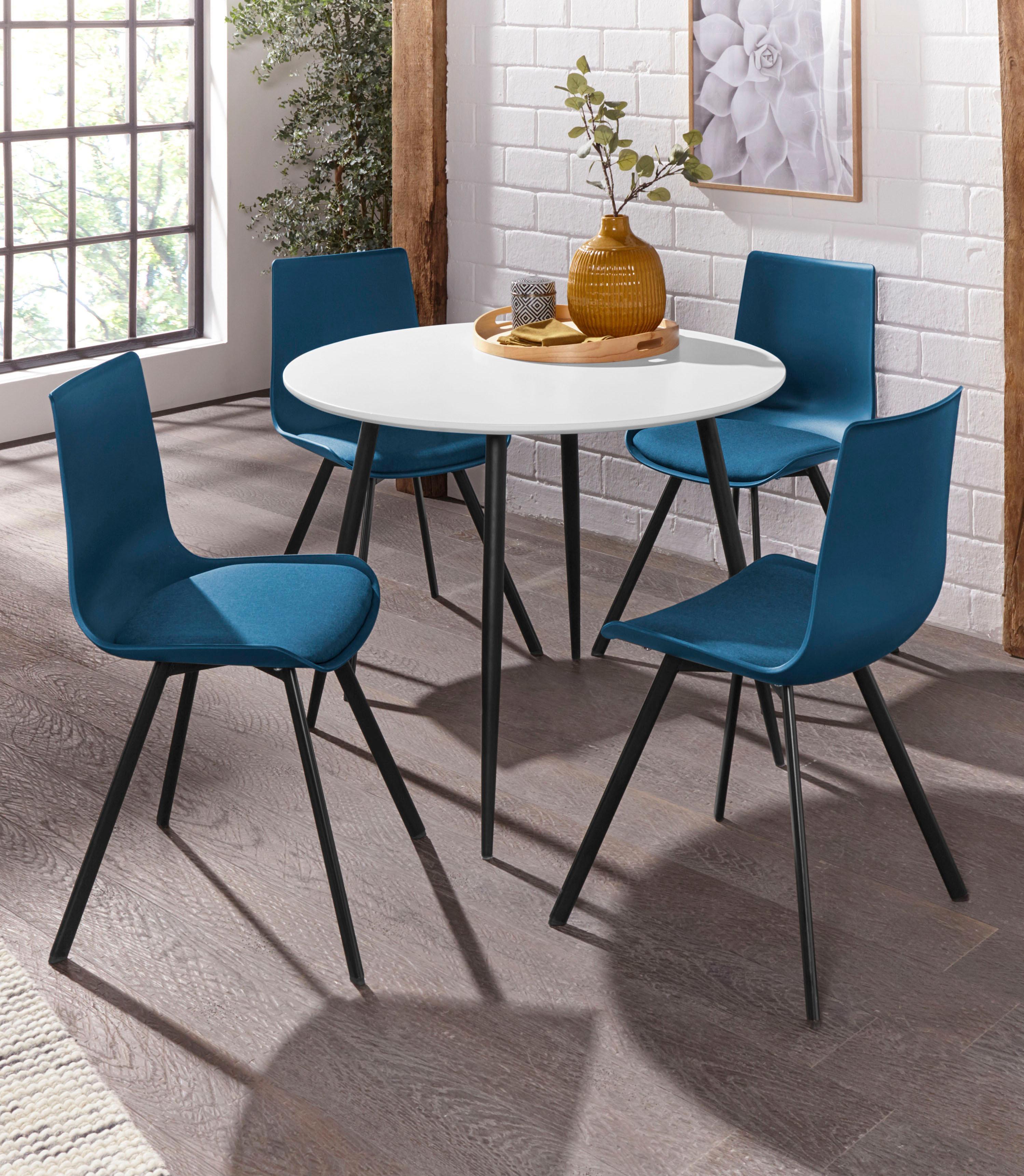 Essgruppe Dino 2 - Lucky mit rundem Esstisch und 4 Stühlen