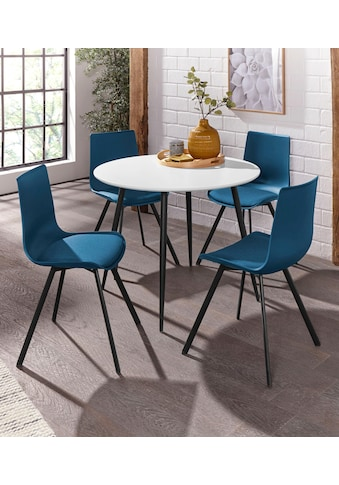Essgruppe »Dino 2 - Lucky«, (Set, 5 tlg.), Esstisch mit rundem Esstisch und 4 Stühlen kaufen