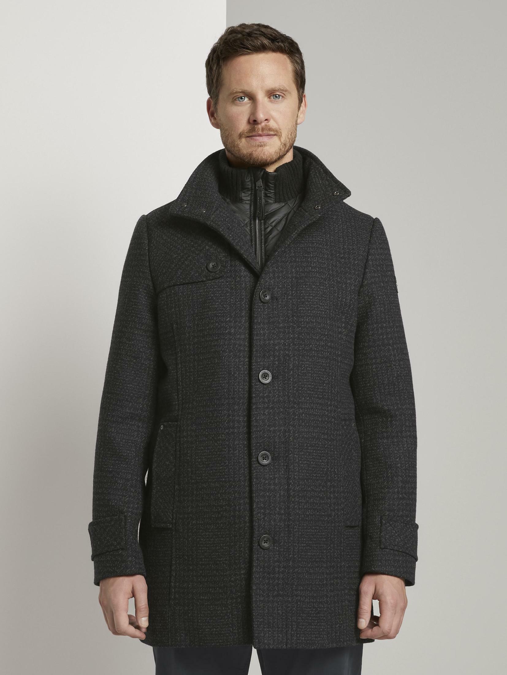 tom tailor -  Dufflecoat Wollmantel mit gesteppter Unterjacke