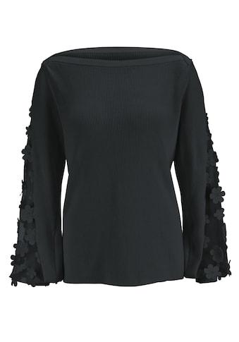 Pullover mit Spitze an den Ärmeln kaufen