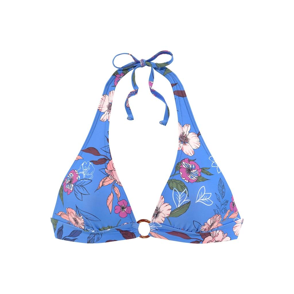 s.Oliver Triangel-Bikini-Top »Maya«, mit Ring in Horn-Optik