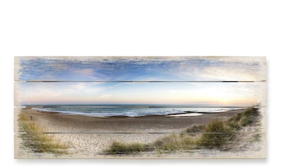 Wall-Art Holzbild »Strand Holzbild Küchen Wandbild«, (1 St.) kaufen