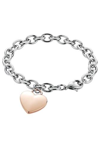 Firetti Armband »Herz, Bicolor - Optik« kaufen