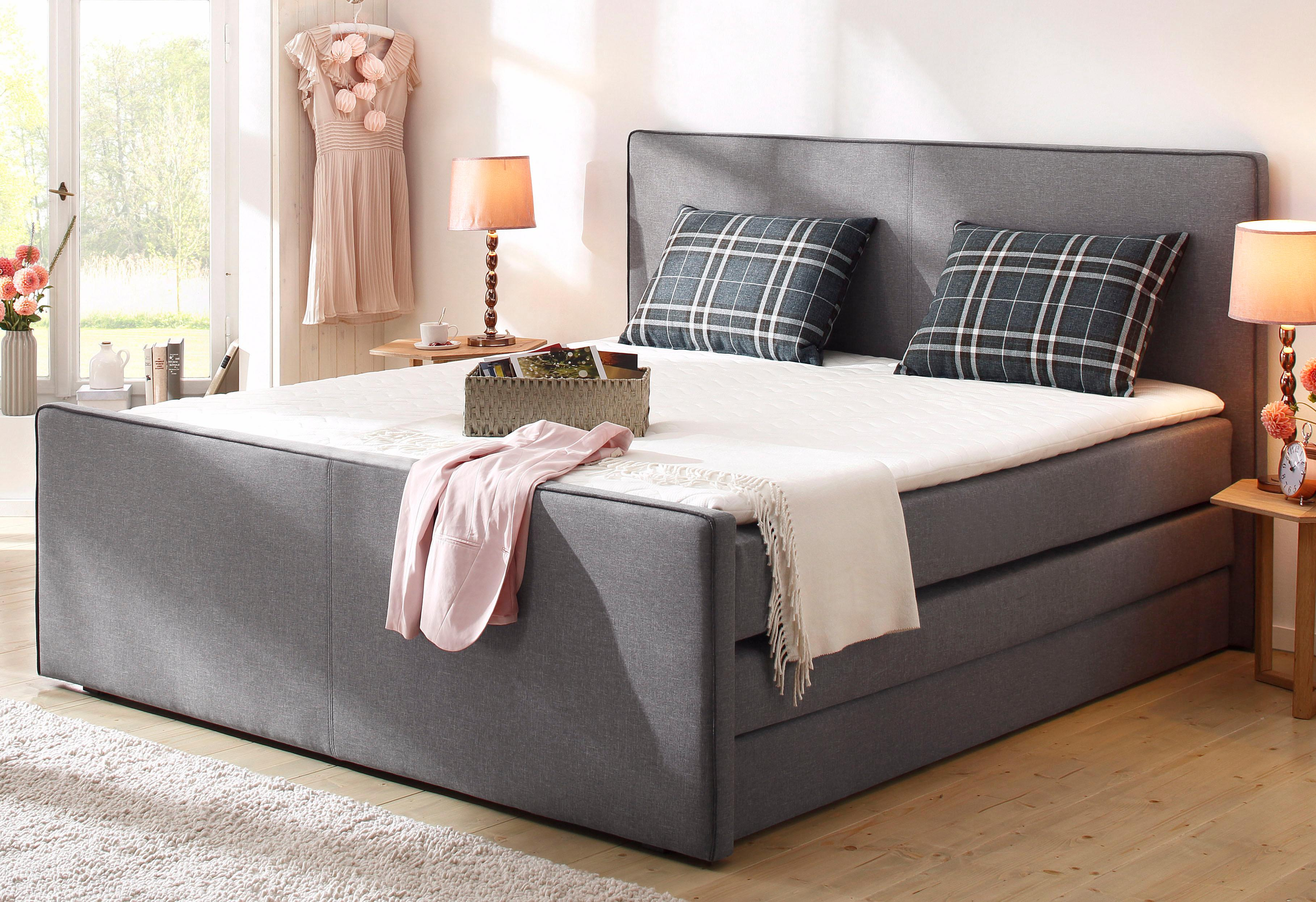 home affaire boxspringbett memphis mit bettkasten und. Black Bedroom Furniture Sets. Home Design Ideas