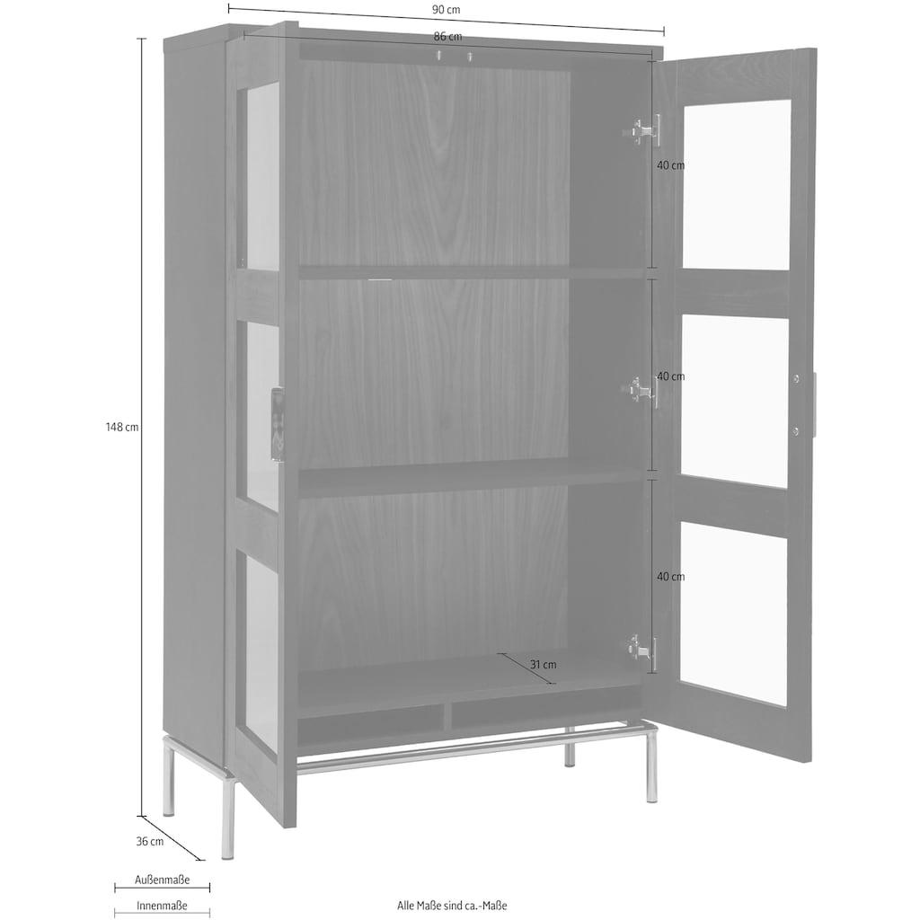Woodman Vitrine »Parlan«, mit zwei Glastüren und Soft-Close-Funktion, Breite 148 cm