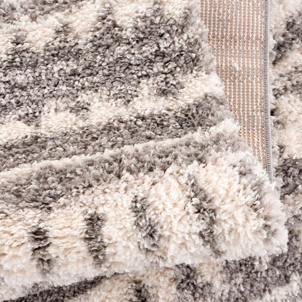 Carpet City Hochflor-Teppich »Pulpy 542«, rechteckig, 30 mm Höhe, mit Fransen, Wohnzimmer