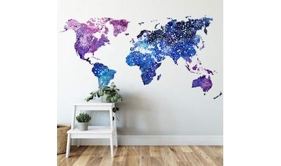 Wall-Art Wandtattoo »Universum Weltkarte Galaxie« kaufen