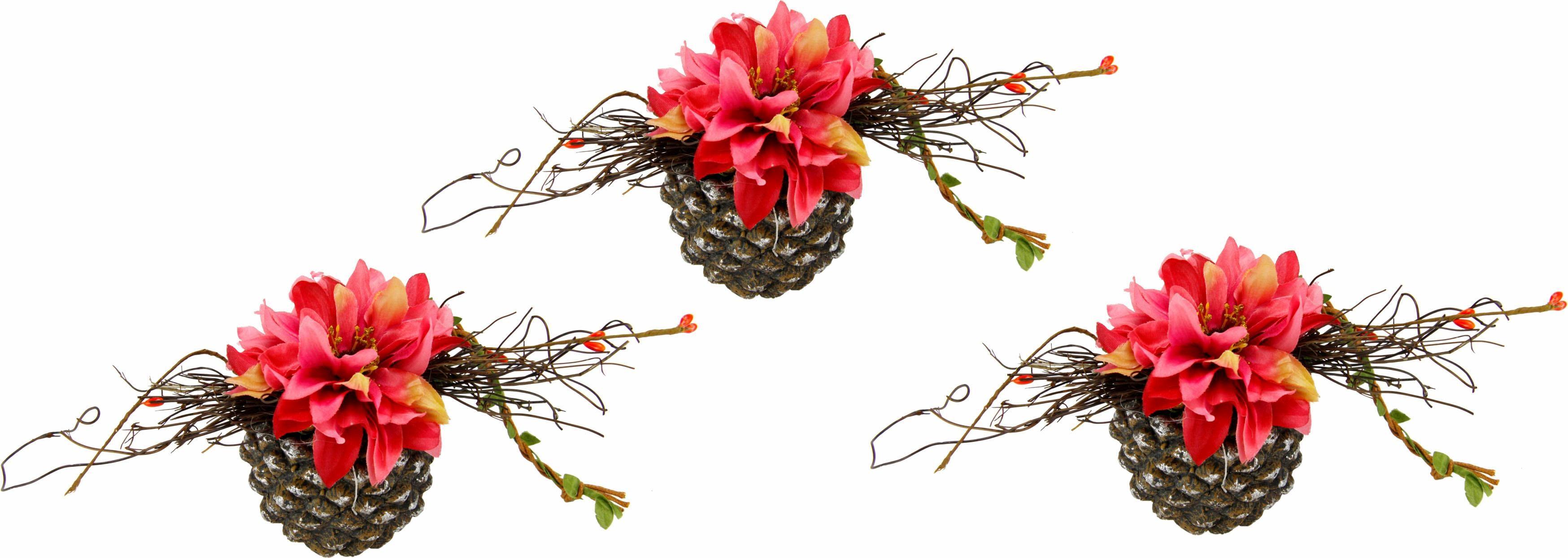 Kunstpflanze (Set 3 Stück)   Dekoration > Dekopflanzen > Kunstpflanzen   Rosa