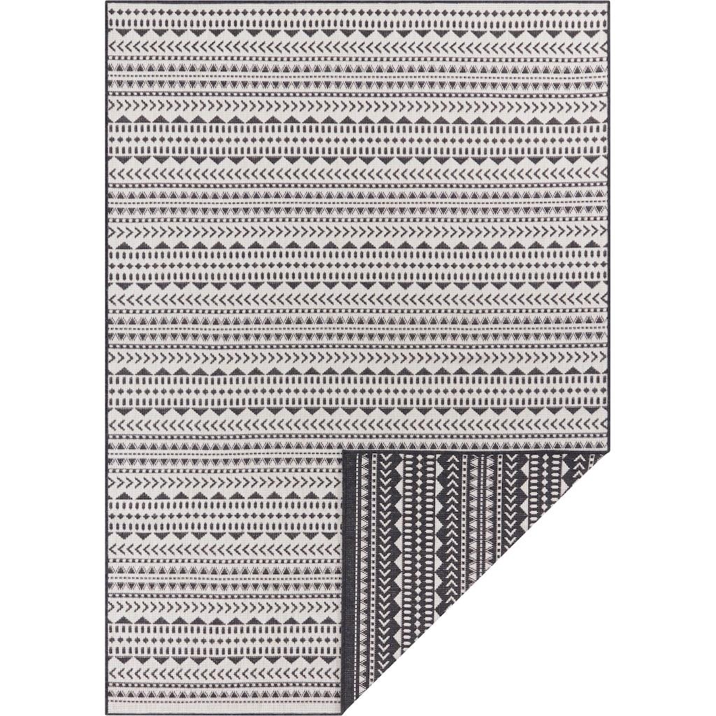 andas Teppich »Edgar«, rechteckig, 5 mm Höhe, Wendeteppich, In- und Outdoor geeignet, Wohnzimmer
