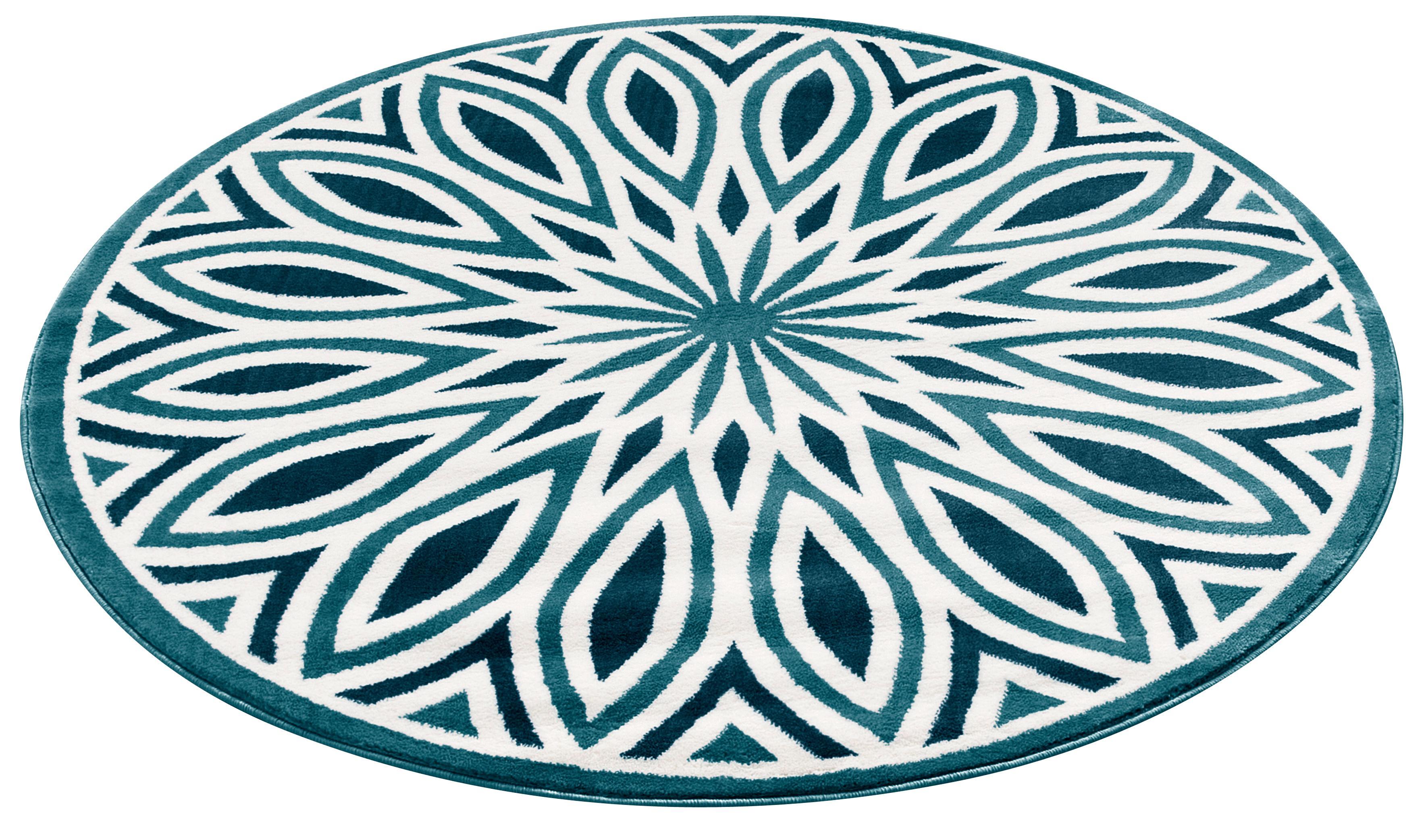 Teppich Ronja my home rund Höhe 11 mm maschinell gewebt | Heimtextilien > Teppiche > Sonstige-Teppiche | Blau | My Home