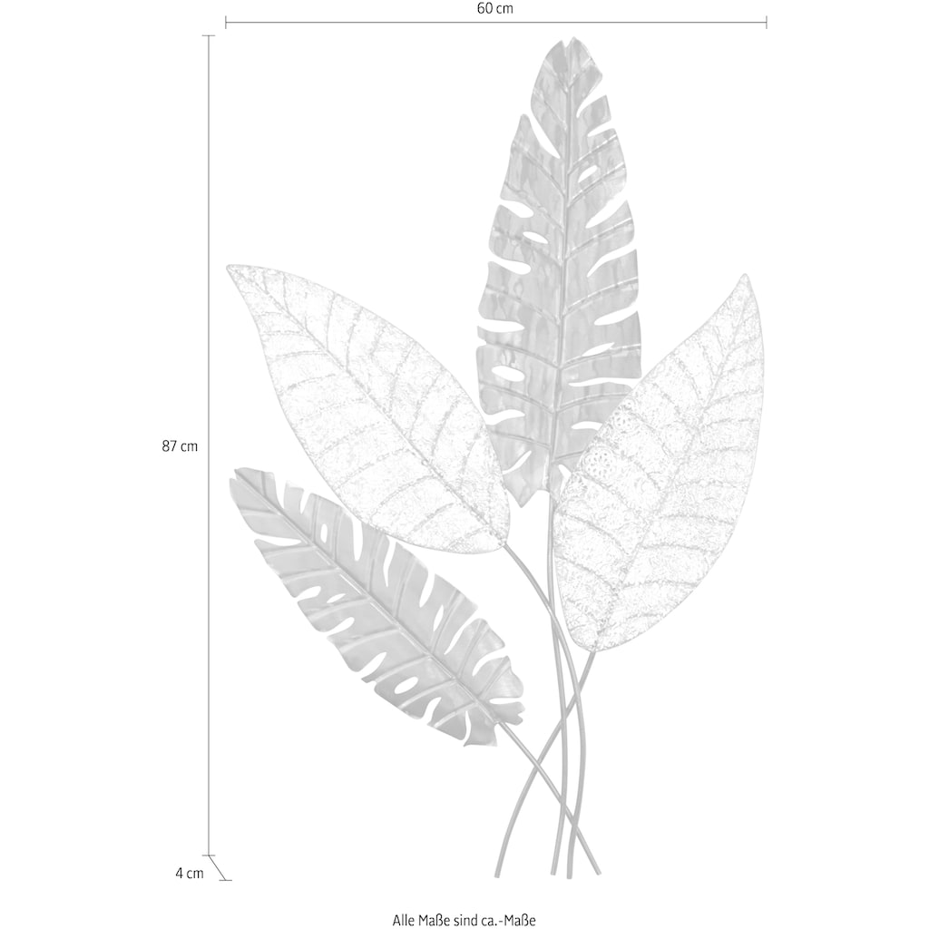 HOFMANN LIVING AND MORE Wanddekoobjekt, Maße (B/T/H): 60/4/87 cm