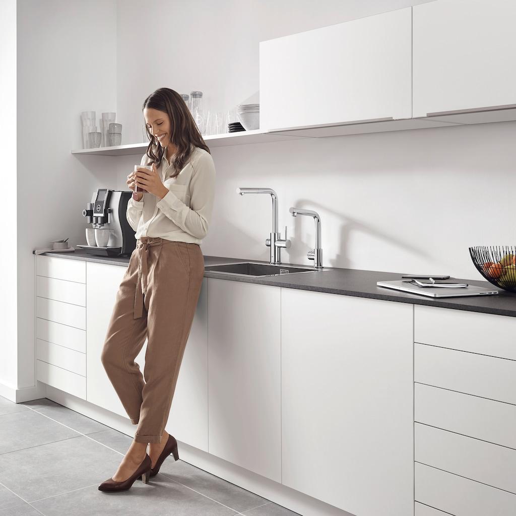 Grohe Küchenarmatur »Blue Professional L-Auslauf Set«, Trinkwasser Still, Medium oder sprudelnd, App steuerbar