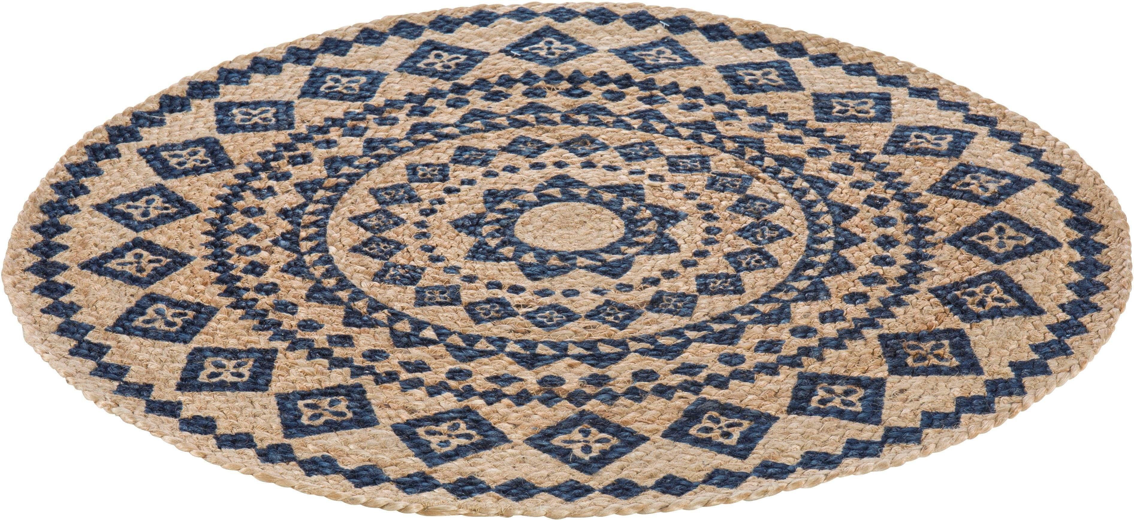Teppich Mamda LUXOR living rund Höhe 4 mm maschinell geknüpft